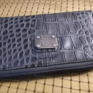 Jessica Simpson Croc Print Leather Wallet Clutch